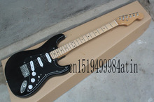 Wholesale Top Quality Standard Stratocaster black Electric Guitar with OHSC custom body  @22
