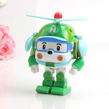 Korea Cartoon Plastic Deformation Robot Helicopter Team Helly Educational Toys For Children