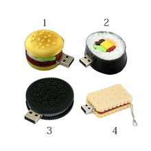 New Hot Sale Emulate Foods Biscuit bread Sushi  Wholesale 4GB 8GB Usb 2.0 hamburger Memory Flash Stick oreo Pen Drive