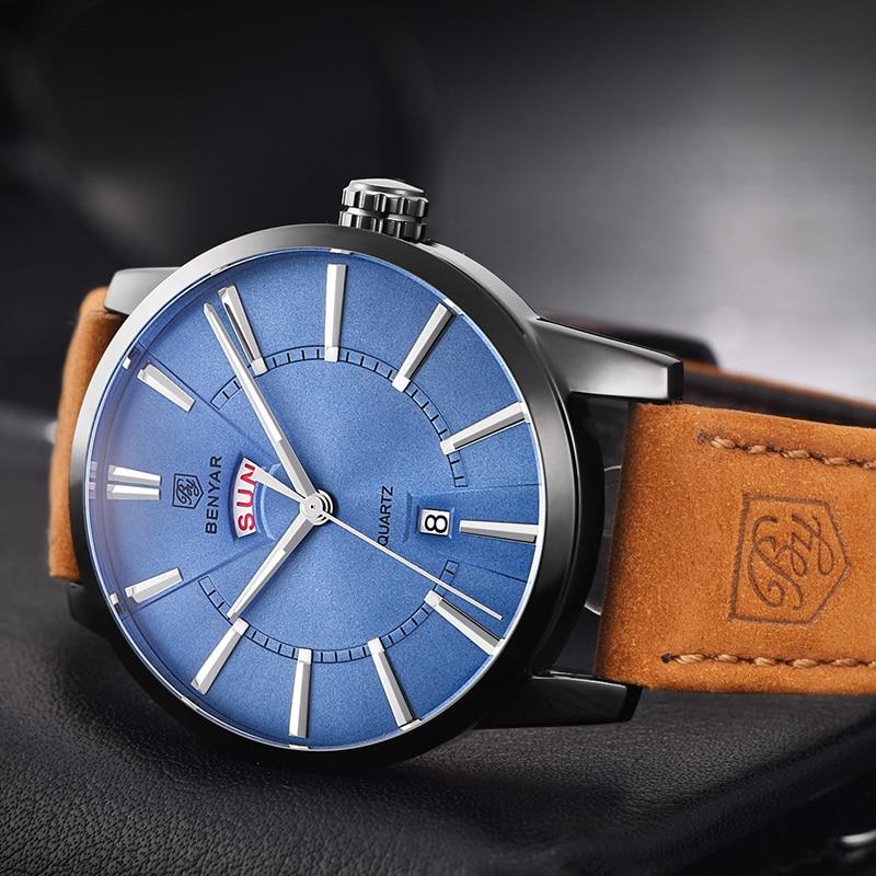 Shockproof Waterproof 3Bar Watches Men Leather Band Calendar Quartz Wrist Watch Clock Man Male Relogio Masculino Hodinky Hot 47<br>