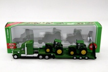 1:87 Siku 1837 Farmer Low Loader With 2 John Dere Tractors Models Diecast Toys Cars Hobbies Collection Kids Toys High Quality(China)