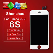 "10pcs Shenchao Without Dead Pixel mobile phone lcds for iphone 6S LCD Display Assembly With Frame 4.7"" china highscreen clone"