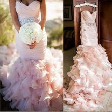 Africa Style Plus Size Wedding Dresses Off Shoulder Beading Layers Mermaid Wedding  Gowns Plus Size Lace Up Back Bridal Dress 1e347cd13ffd