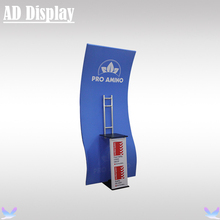 Portable TV Stand With Your Own Design Banner Printing,Exhibition Booth Advertising Tension Fabric Display Stand(China)