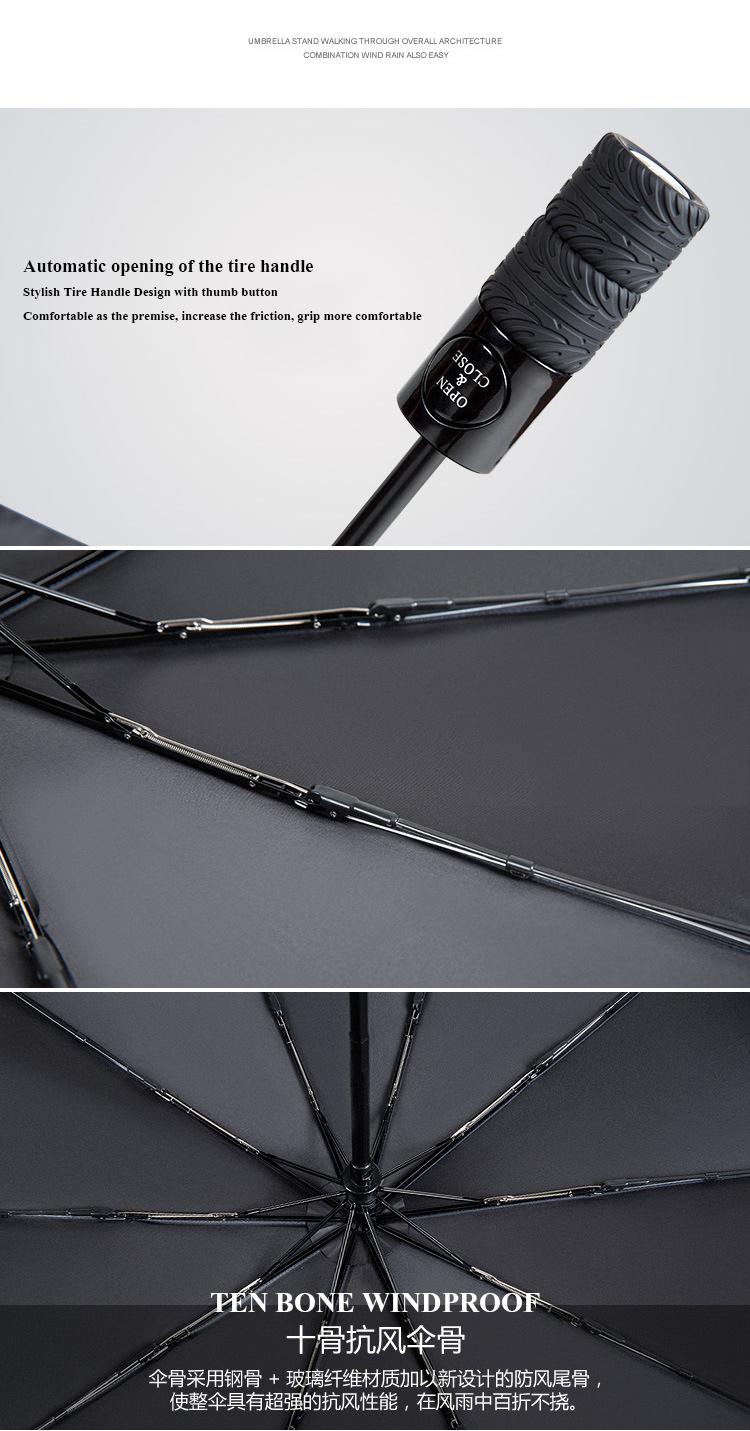 Jesse Kamm Wheel Automatic High Grade Sunny Umbrella 10 Bones