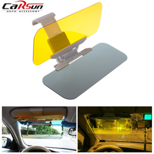 Car Sunshade 1pc Black Auto Accessories Car Styling Car Sun Visor Window Block Retractable Anti dazzle mirror For Cars/Trucks