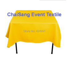 Extra Thicker 150cm Square Gold  Table Cloth,Polyester Plain Table Cloth,Square table cloth For Wedding &Hotel&Banquet