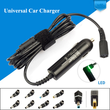 Ultra Slim DC Universal Car Laptop Charger 90W 10 Detachable Plugs For Lenovo Thinkpad Hp envy Toshiba Traveling Laptop Adapters(China)
