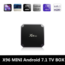 Zeepin X96 Mini Android 7.1 Smart TV BOX 2G Amlogic S905W Quad Core WiFi 4K 2.4GHz IPTV 100M LAN Set-Top Box Media Player