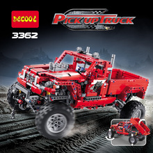 Decool Technic City 2 Model Customized Pick Up Truck Building Blocks Bricks Model Kids Toys Marvel Compatible Legoe(China)