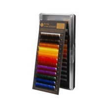 Blink Rainbow Eyelashes C Curl 0.20mm 9/11mm One Tray Individual Colored  False Eyelash Extension Tray Lash 12 strips