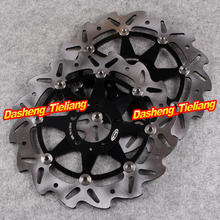 Front Brake Disc Rotors For Kawasaki ZXR GPZ ZZR 250 600 Z750 Ninja ZX6R ZX12R Black Color, Motorcycle Spare Parts