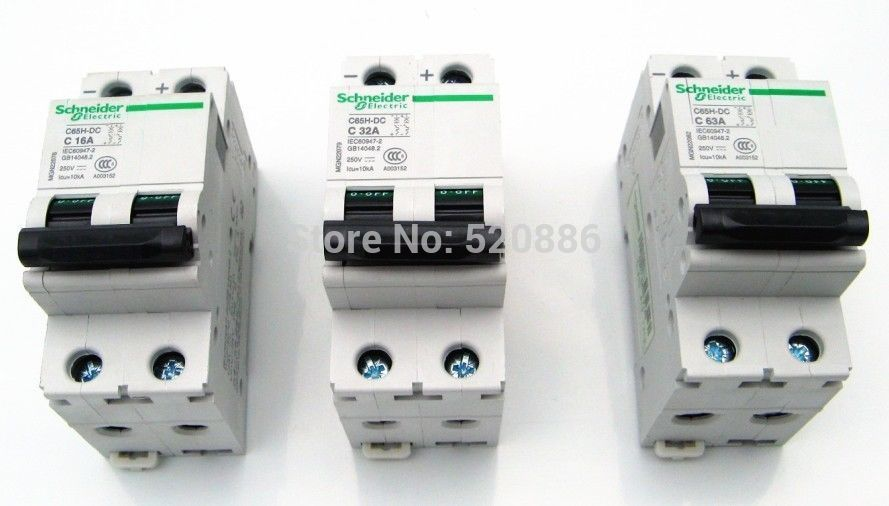 2P 250V 63A C65H DC breaker DC air switch Amps circuit breaker DC system appliance, Short circuit protector Overload protector(China (Mainland))