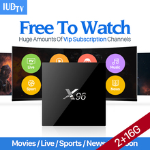 X96 Smart Android 6.0 TV Box S905X IUDTV IPTV Subscription Europe IPTV Sweden French Arabic Spain Turkey Italy Germany Belgium(China)