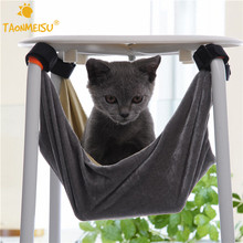 Pet Kitten Cat Hammock Removable Velcro Hanging Soft Bed Cages for Chair Kitty Rat Small Pets Swing 2 Colors