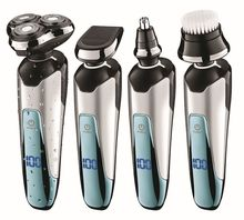4in1 Rotate Shaver For Men Rechargeable Shaving Machine Electric Razor wet dry Facial Electric Shaver face nose ear grooming kit(China)