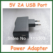 10pcs Universal 5V 2A USB Port Charger Power Supply for Ainol Novo 7 3G AX1 Pipo M9 Pro 3G/WIFI Tablet PC Power Adapter