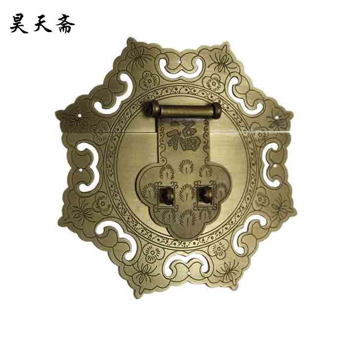 [Haotian vegetarian Chinese antique Ming and Qing Zhang Muxiang] bronze copper fittings suitable 80-100CM box<br><br>Aliexpress