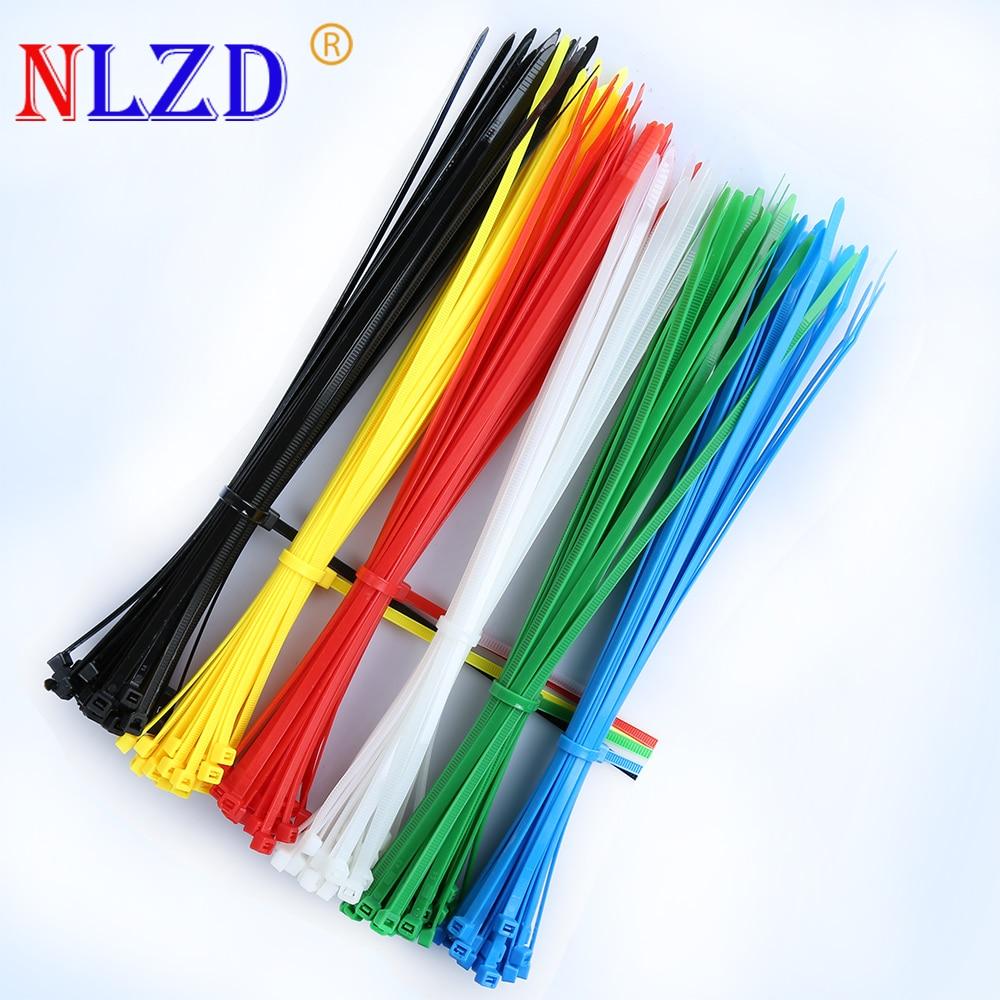 100 x Black /& White Nylon Plastic Cable Ties Tidies Zip Tie 100mm 200mm 300mm