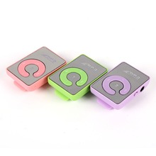 Durable Mini MP3 Music Player Mirror Clip Support 8GB SD TF Card USB Digital 6 Colors