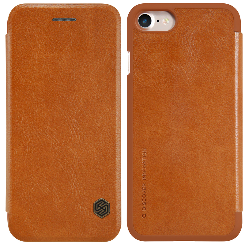 Nillkin Qin Luxury Flip Cover Iphone 7 Leather Case Wallet Card Slot Phone Case Iphone7