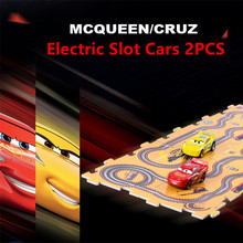 2017 Disney Pixar Cars 3 Macqueen Cruz 2PCS Kids Electric Slot Racing Cars 3 for Boys Educational Gifts with DIY 10PCS Tracks(China)