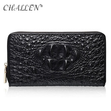 100% Genuine Leather Men's Wallet Fashion Clutch Bag Coin Purse 2016 Man Holding Level one Leather Crocodile pattern Clutch