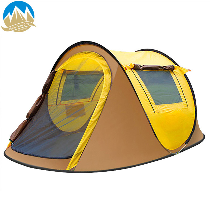 MYJ Outdoor Seasons Quick Open Pop Up Changing Tent Family Leisure Windbreak Camping Tent Anti-mosquito Shelter title=