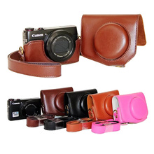 Buy New Fashion Camera Case Canon Powershot G7X Digital Camera bag strap black brown coffee for $8.59 in AliExpress store