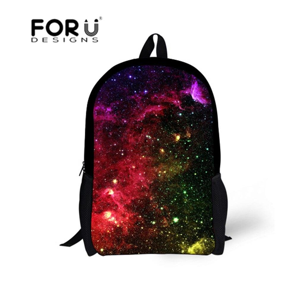 FORUDESIGNS Fashion Students Polyester School Bags Galaxy Printing Schoolbags For Teenagers Girls  Travel Bags Bolsas Mochila<br><br>Aliexpress