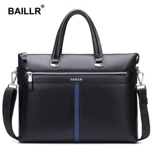 Brand Genuine Leather Luxury Men's Bag Briefcase Men Bag Business Fashion Men Leather Laptop Bag Men's Shoulder Bags