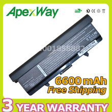 Apexway New 6600mAh 9 cells Laptop Battery For Dell Inspiron 1525 1526 1545 C601H D608H GP952 RN873 RU586 XR693 black