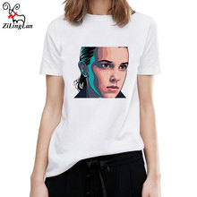 ZiLingLan Stranger Things T-Shirt Women's Funny Print Harajuku Product Clothes for Women Cotton Short Sleeve Tees Shirt(China)