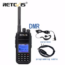 DMR Digital Radio (GPS) Walkie Talkie Retevis RT3 UHF (or VHF) 5W Encryption Portable Two Way Radio Hf Transceiver+Program Cable