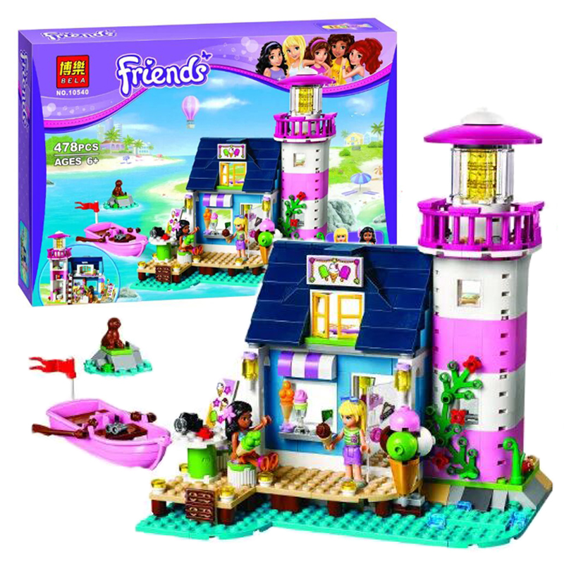 Bela Friends Heartlake Lighthouse ice cream shop Building Block Set Kate Stephanie figures Girls Toys 41094 Compatible Lepin<br><br>Aliexpress