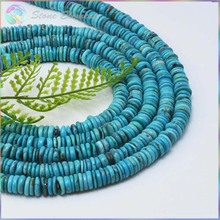 Genuine Natural Turquoise Anomalistic Slice Rondelle Beads 7mm - Hot Design for Necklace Making(China)