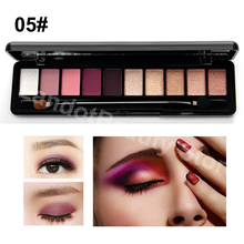 Warm Colors Natural Elegant Eye Shadow Practical Matte Eyeshadow Mineral Pigment Nude Makeup Palette Set With Brush(China)