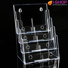 Four Tiers Magazine Display Catalog Holder Brochure Holder Multi-Compartment Tiered Literature Holder PZG-012(China)