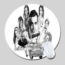7 James Bond Aston Marin Image 2016 Round Gaming Mouse Mats Mice Pad for Size 200*200*2mm