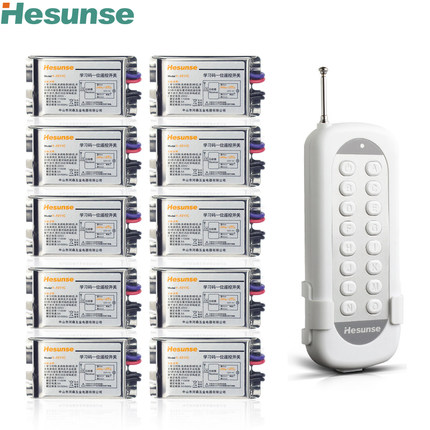 Y-F211C1N10 220V 7A 433mhz 10 Channels Wireless RF Remote Control Switch Disconnect Switch Learning Code Switch 110V<br>