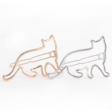 1 pcs  Lovely Hair Clip Silver Gold Cat Shape Women Girls Hair Clip Clamp Fashion Jewelry Hair Accessories  New Arrival