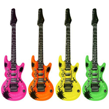 "Inflatable Guitars Rock Roll 20"" Wedding Birthday Night Party Favors Rock Star Bulk KARAOKE(China)"