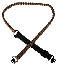 "Khaki Brand New Adjustable Paracord Gun Sling With 2pcs 1"" Swivels umbrella rope"