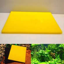 Aquarium Fish Tank Pond Biochemical Cottons Filter Sponge Cleaning Tools Blue Yellow 50*50*4cm Aquatic Tank Filter Accessories(China)