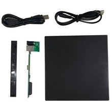 Portable USB 2.0 DVD CD DVD-Rom IDE External Case Slim for Laptop Notebook Black External Hard Drive Disk Enclosure Dropshipping(China)