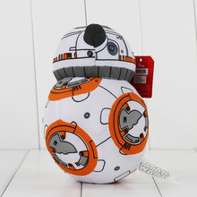 17cm Cartoon Movies Star Wars The Force Awakens BB8 robot BB-8 Droid Robot soft Stuffed Plush Toys Doll Free shipping