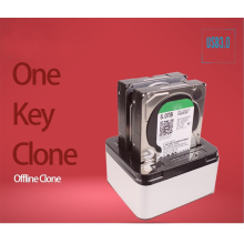 "Top Quality Dual Bays SATA Hard Drive Disk Case Dock 3.5"" 2.5"" HDD SSD Station Offline clone"