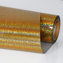 Gold Heat Transfer Vinyl Press Film For Plotter T-shirts Glitter Holographic Iron-on 50cm100cm