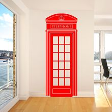 G149 LONDON TELEPHONE BOX UK 57cm x 148cm VINYL WALL ART STICKER DECAL DECORATION Bedroom wall art decoration
