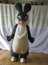 2017 Hot sale Mascot New Black Easter Bunny Rabbit Mascot Costume Adult Cartoon Character Cute Hare Rabbit Mascot Costume(China)